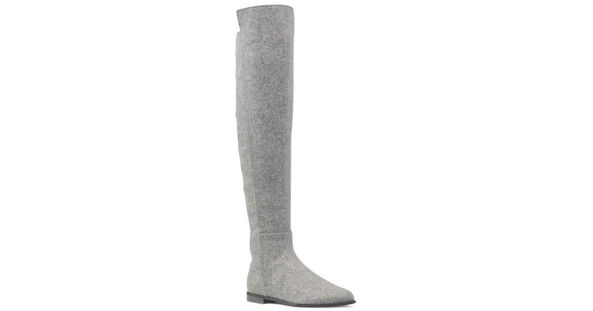 bec5cf73bfb Lyst - Nine West Eltynn Over The Knee Boot in Gray
