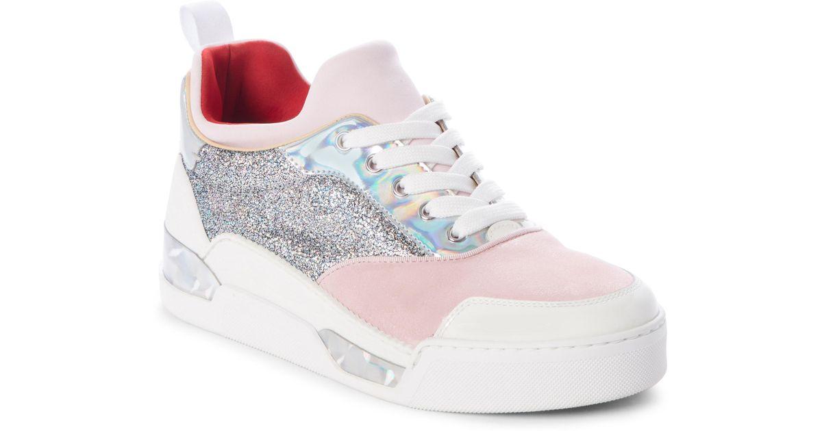 3027556fe556 Lyst - Christian Louboutin Aurelien Donna Sneaker in Pink