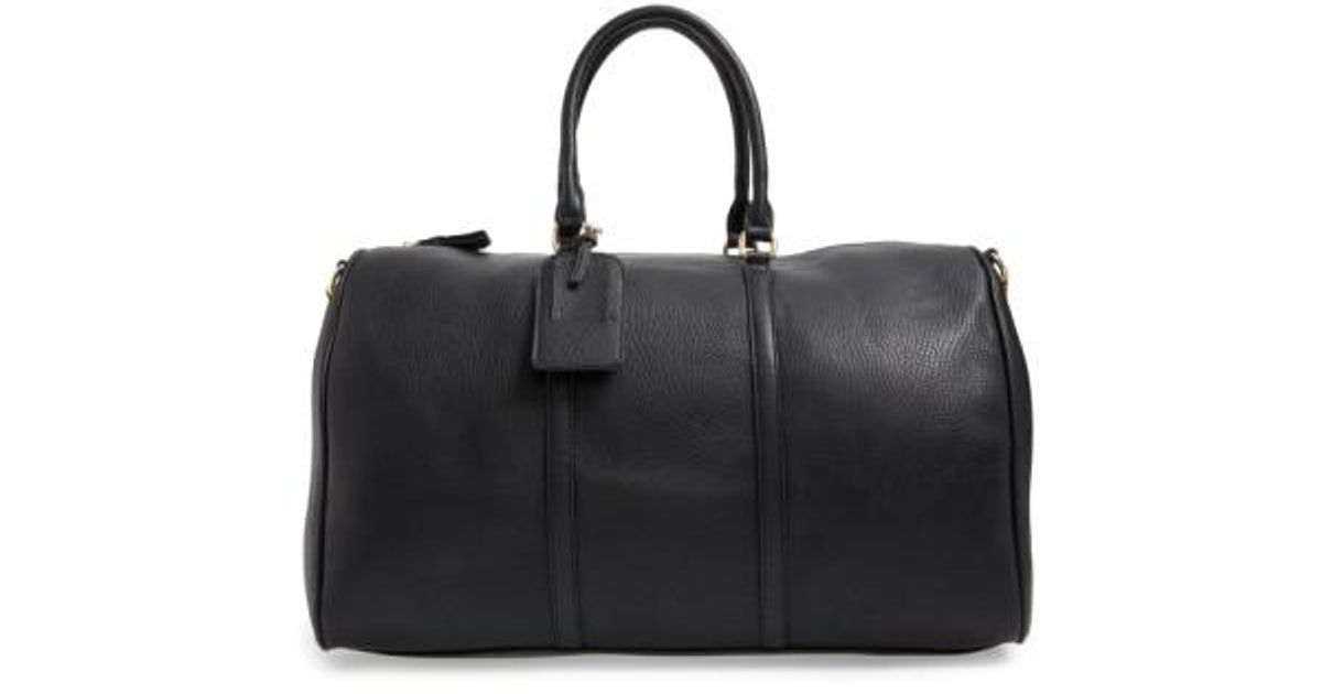 Lyst - Sole Society  lacie  Faux Leather Duffel Bag in Black for Men aee7c555cb94f