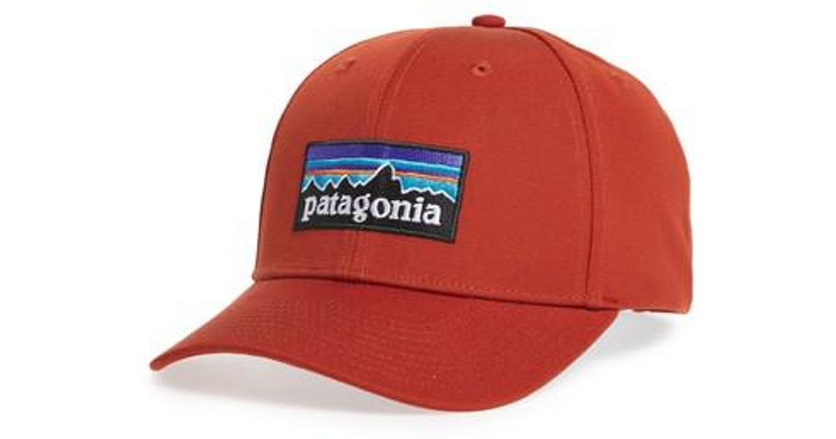 35c116b99e Lyst - Patagonia P-6 Roger That Baseball Cap in Red for Men
