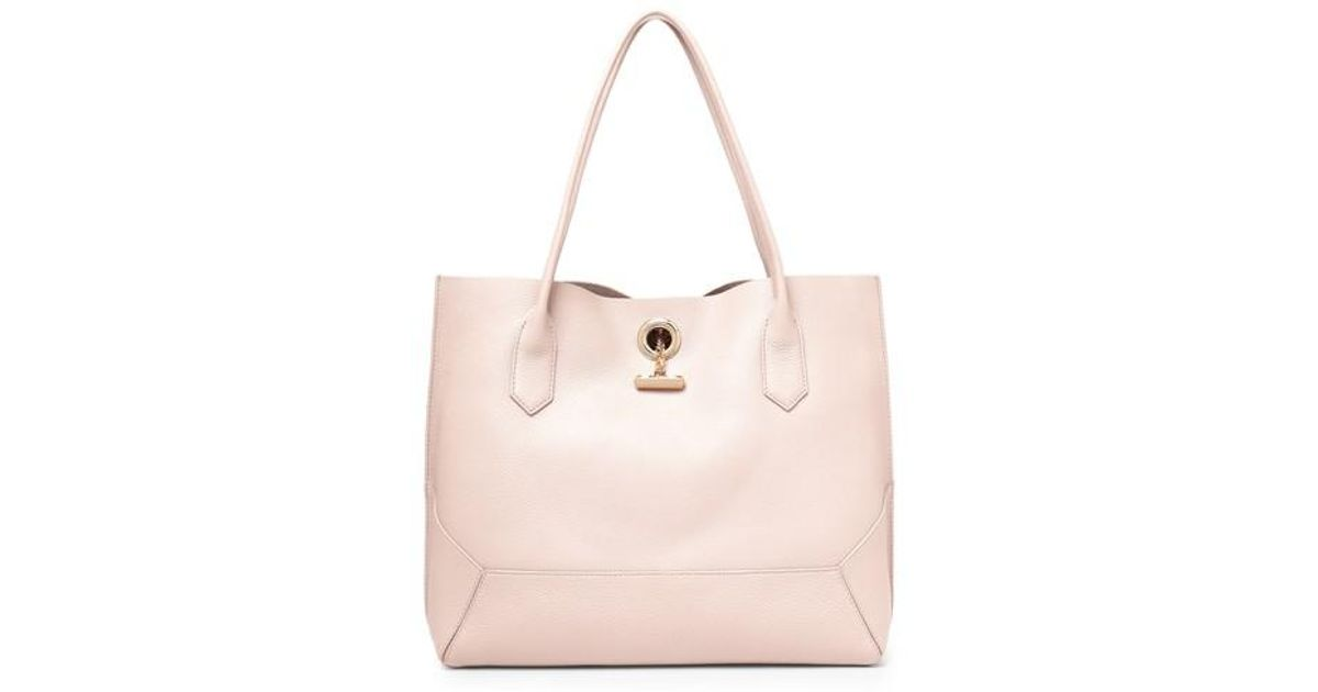 055033c14 Lyst - Botkier Waverly Leather Tote in Pink