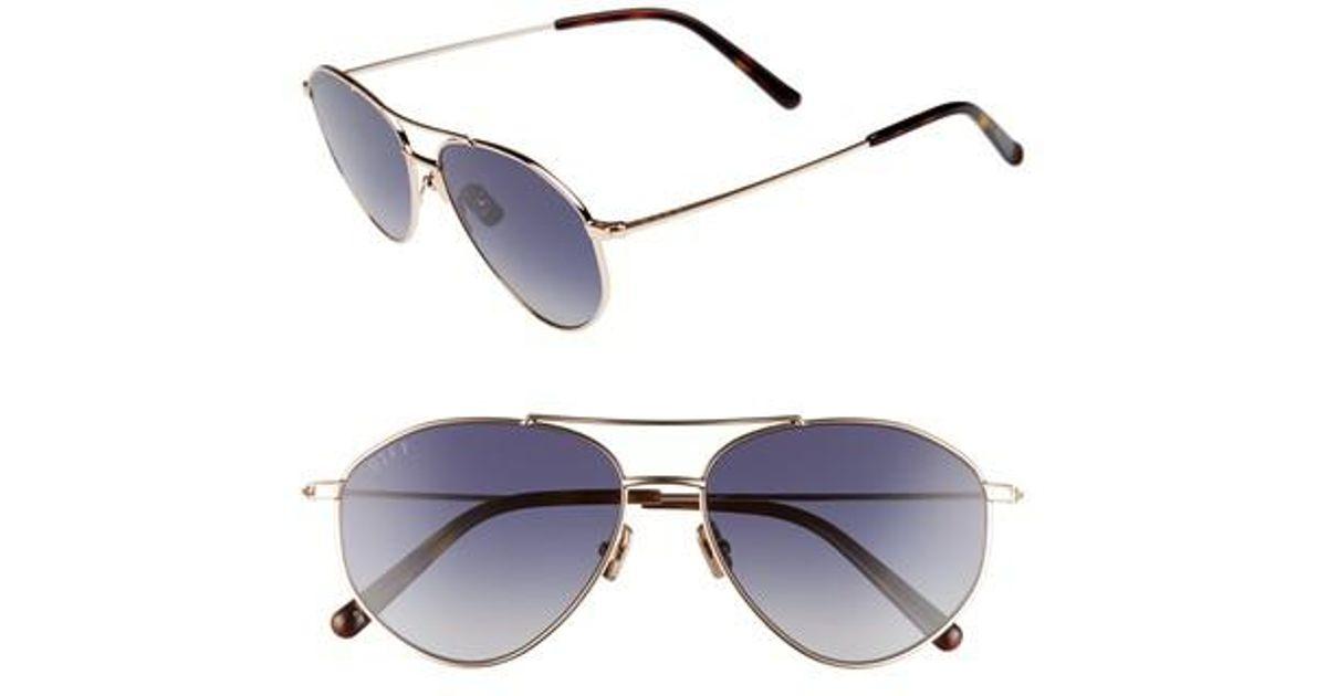 e40c67383d3de Lyst - DIFF Scout 53mm Aviator Sunglasses