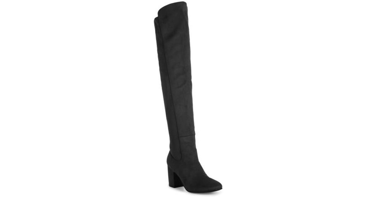 231c698306e Lyst - Treasure   Bond Lynx Stretch Over The Knee Boot (women) in Black