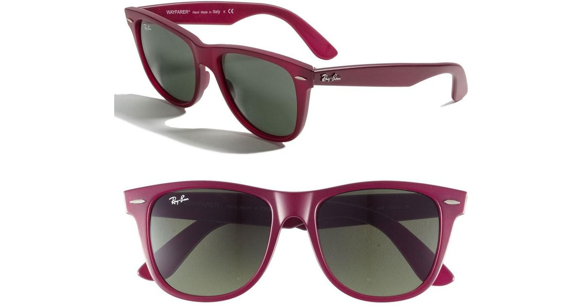 278f4e41cb Lyst - Ray-Ban Large Classic Wayfarer 54mm Sunglasses in Red
