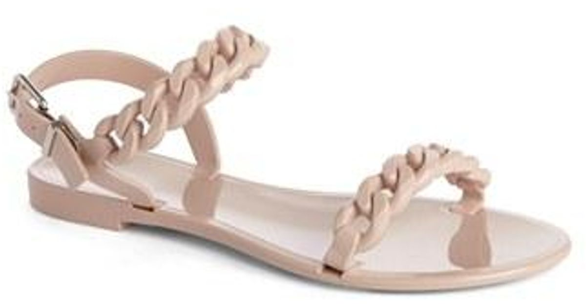 cb7ed54c014c Lyst - Givenchy Nea Chain Logo Jelly Sandals in Pink