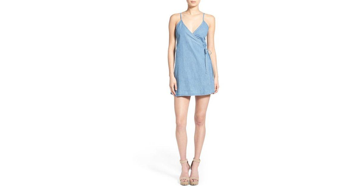 c714c7eee1 Lyst - MINKPINK Rodeo League Denim Wrap Dress in Blue