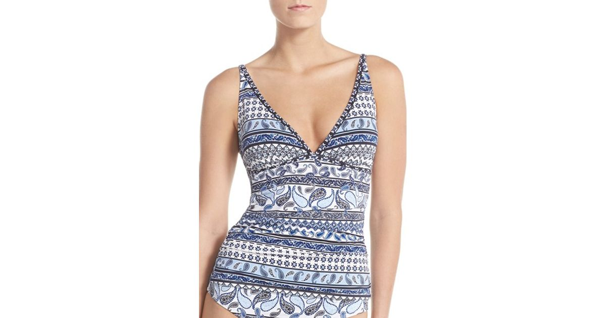 cec0d91cd8c6a Lyst - Tommy Bahama  paisley Terrace  Tankini Top