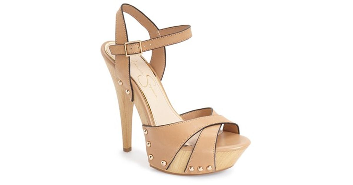 9da3fcb0541 Lyst - Jessica Simpson  faraday  Platform Sandal in Natural
