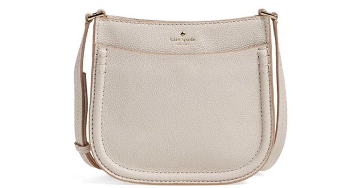 831aa141eafe Lyst - Kate Spade  orchard Street - Small Hemsley  Leather Crossbody Bag in  Natural