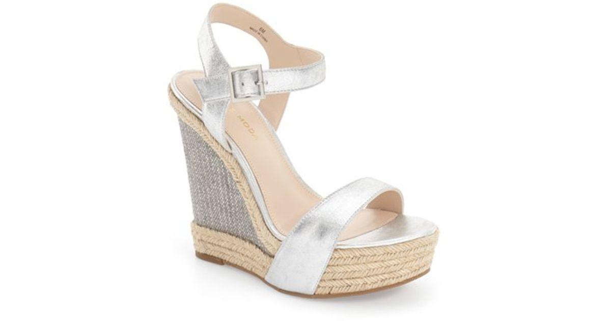 e96bf0b45488b Lyst - Pelle Moda  omer  Wedge Sandal in Metallic