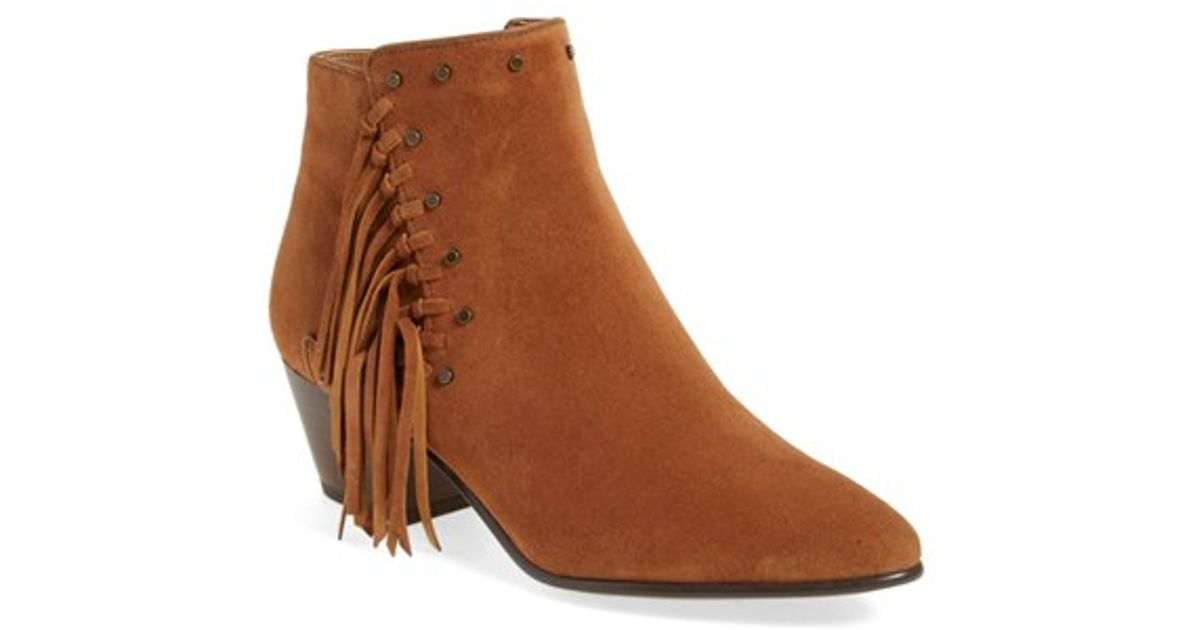11309f856 Lyst - Sam Edelman  rudie  Studded Fringe Bootie (women) in Brown