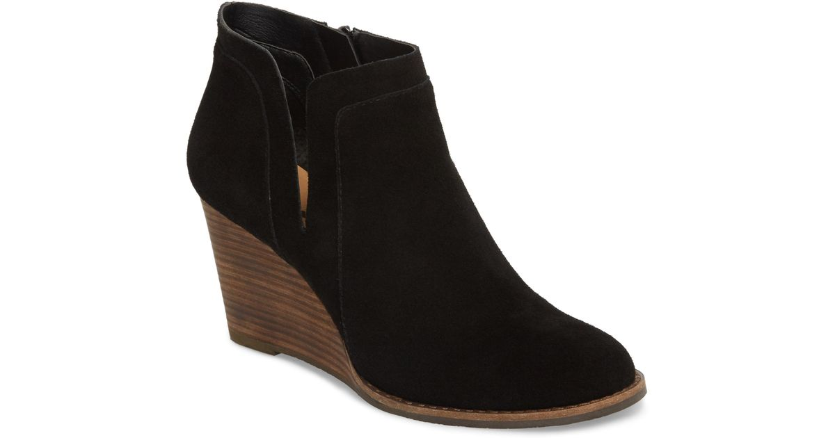 410598e4d5d Lyst - Lucky Brand Yabba Wedge Bootie in Black