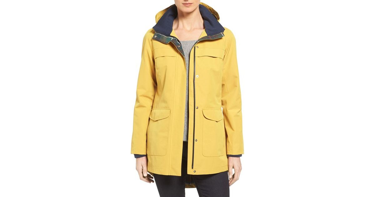 Pendleton Hooded Raincoat in Yellow | Lyst