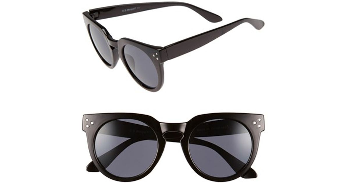 a j ditto 50mm sunglasses in black lyst
