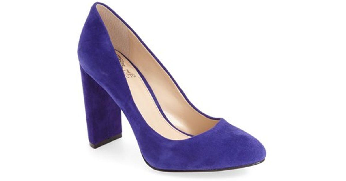 Iris Blue Suede Shoes
