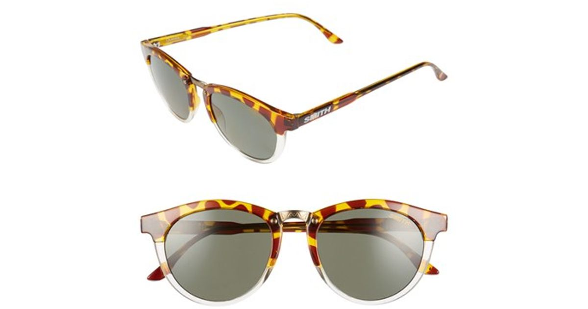 79d49ded6d660 Lyst - Smith Optics  questa  49mm Polarized Sunglasses - Amber Tortoise in  Brown