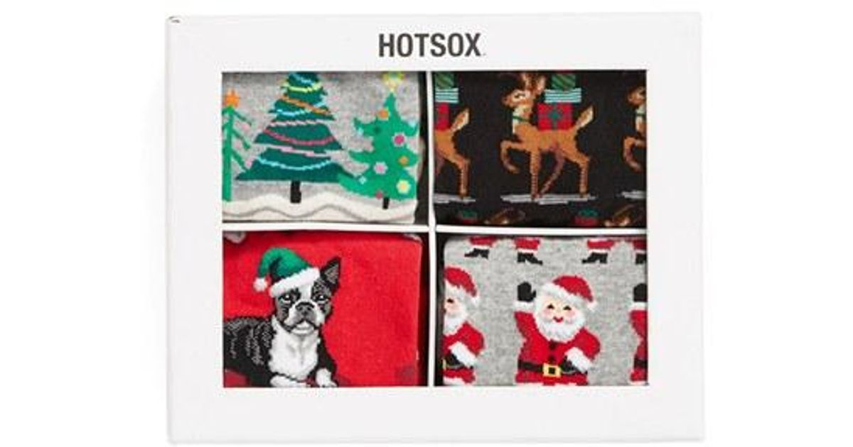 Hot sox holiday socks gift set in gray for men lyst