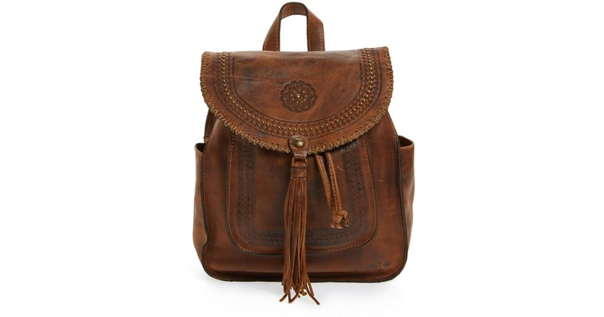 1c00ae1b6437 Lyst - Patricia Nash  jovanna  Tassel Studded Leather Backpack in Brown