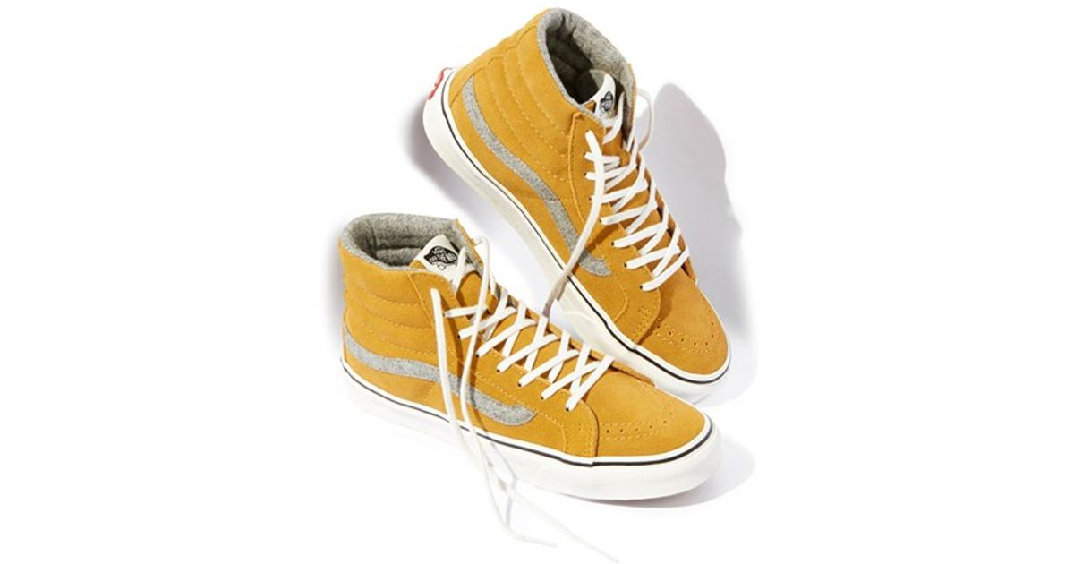 1b8a9bfed3 Lyst - Vans  SK8-HI Slim - Vintage Suede  Sneaker in Metallic for Men