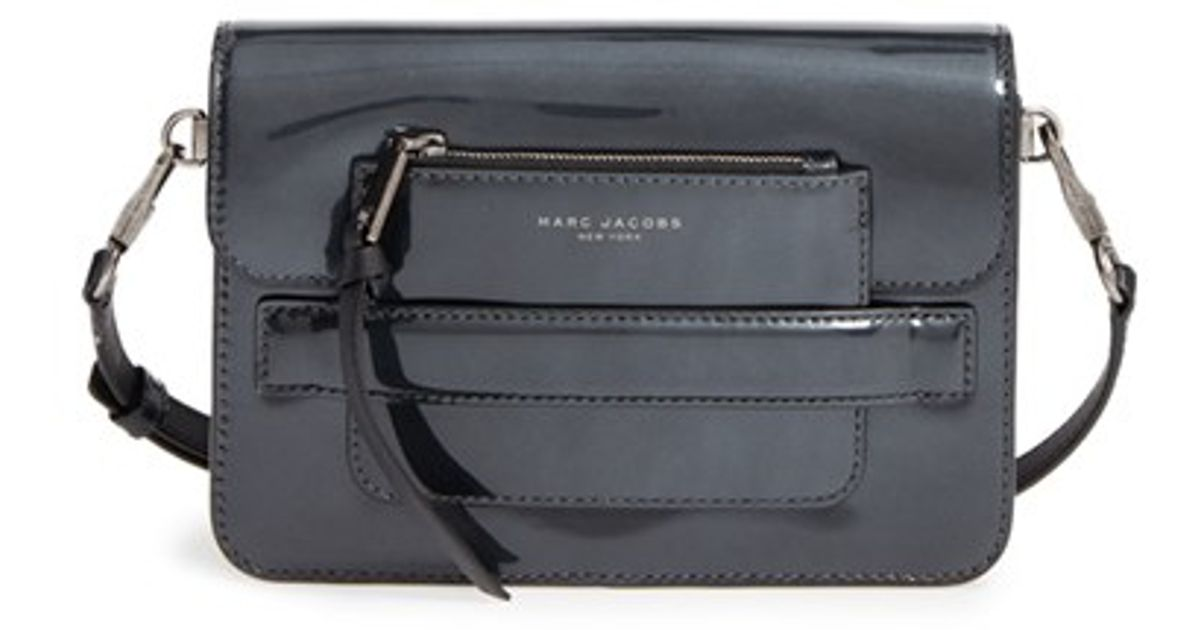 0e5302704 Lyst - Marc Jacobs Medium Madison Patent Leather Crossbody Bag in Metallic
