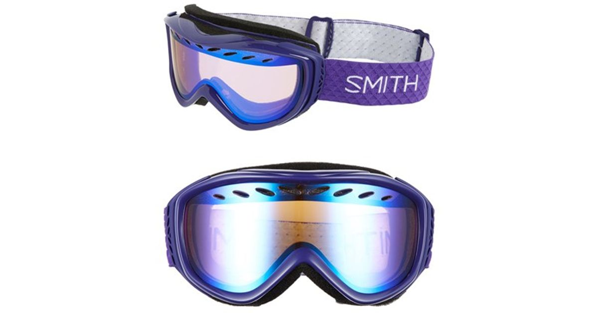 af0ca8d3f1 Lyst - Smith Optics  transit  Snow Goggles - Ultraviolet  Blue Mirror in  Blue
