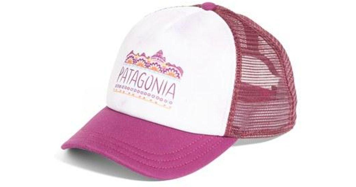2210093c1c7d6 Lyst - Patagonia Femme Fitz Roy Interstate Trucker Hat - Burgundy