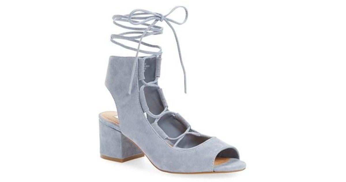 8eec6d0a30 Lyst - Steve Madden Admire Block Heel Sandal in Blue