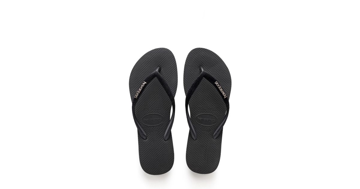e79d0b5ae408 Lyst - Havaianas Slim Velvet Flip Flop in Black