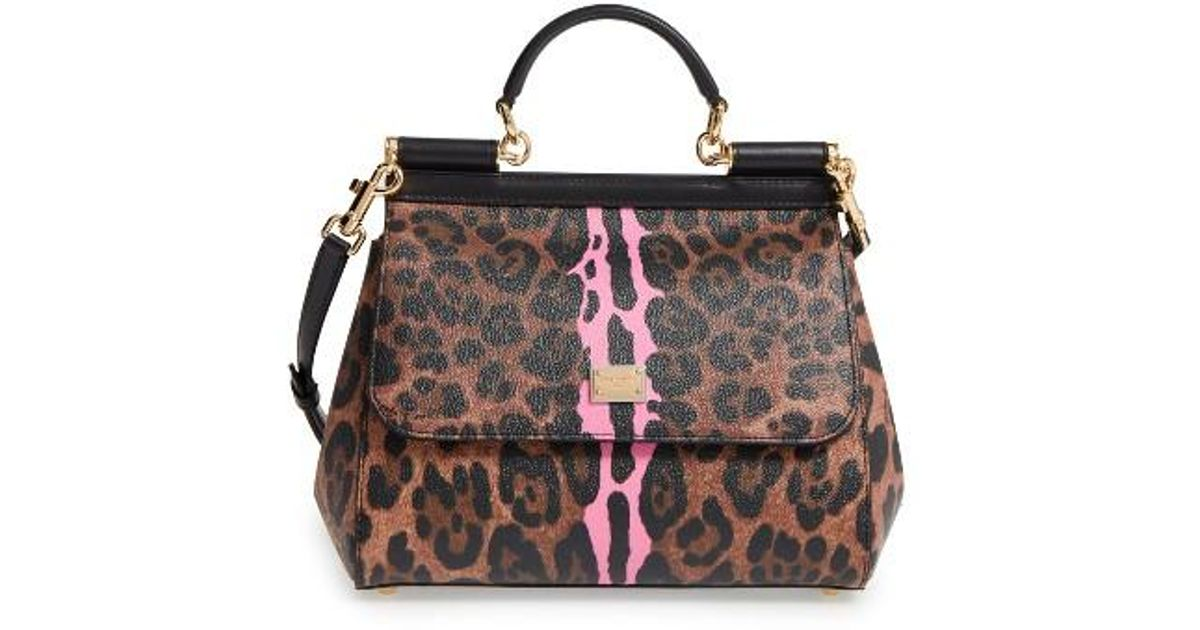 845647143 Dolce & Gabbana Medium Miss Sicily - Leo Stripe Satchel - Lyst