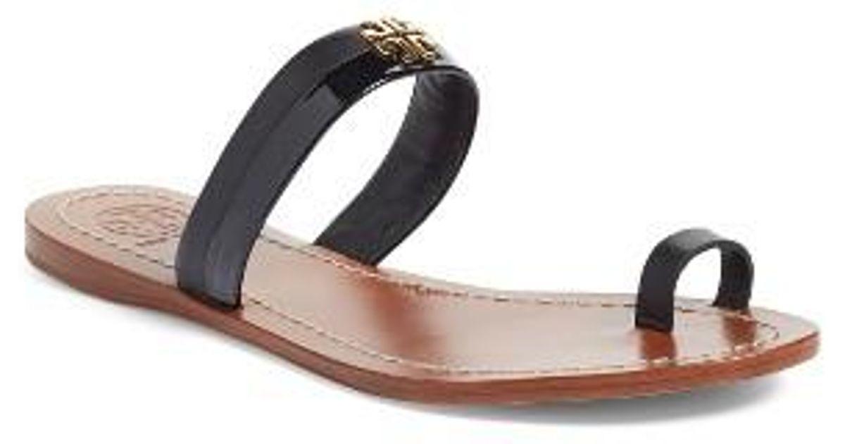 079c7f004c13 Lyst - Tory Burch Jolie Toe Ring Sandal in Black