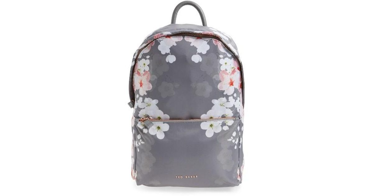 5afd8744815e Lyst - Ted Baker Olica Oriental Blossom Backpack in Gray