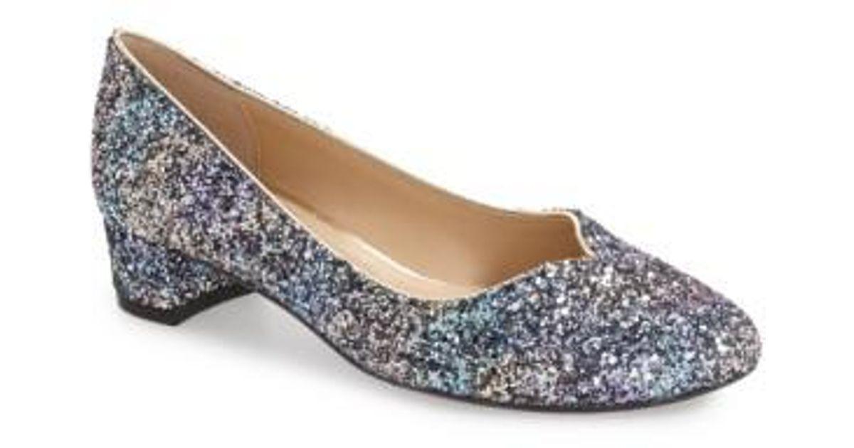 Bambalina Glitter Sequin Block Heel Pumps 2dmmvtcOM