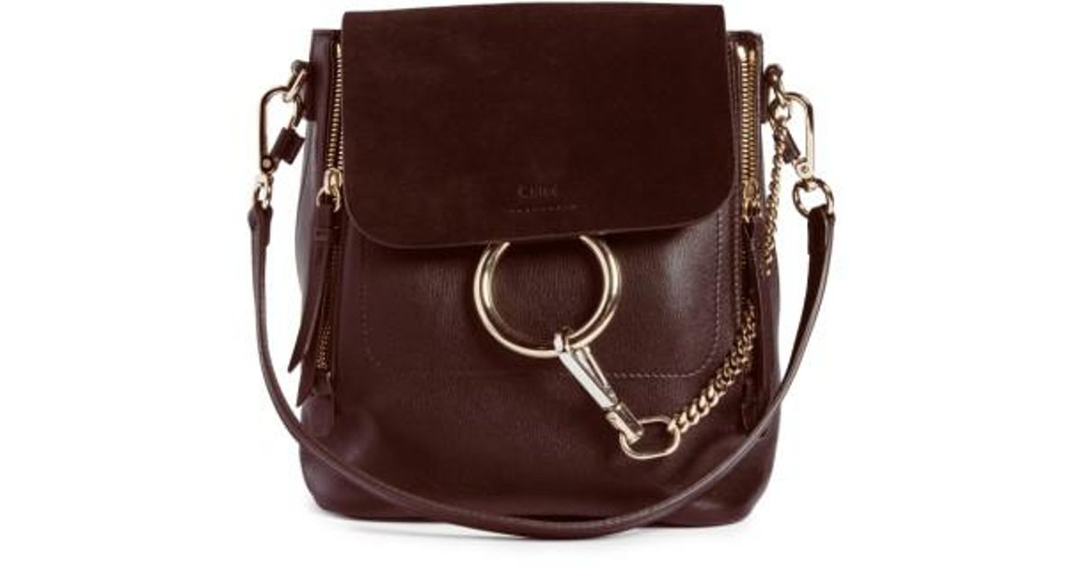 f3ca7d1d Chloé - Multicolor Small Faye Suede & Leather Backpack - Lyst