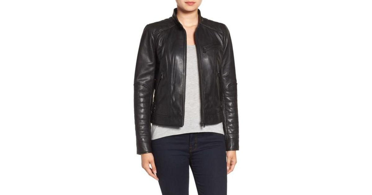 eb4cc35fc Quilted Leather Moto Jacket Bernardo - Best Quilt Grafimage.co
