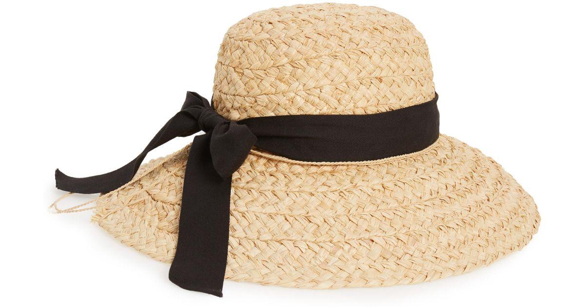 67c1e4acd3b Lyst - Helen Kaminski Helen Kaminiski Classic Wide Braid Raffia Hat in Black