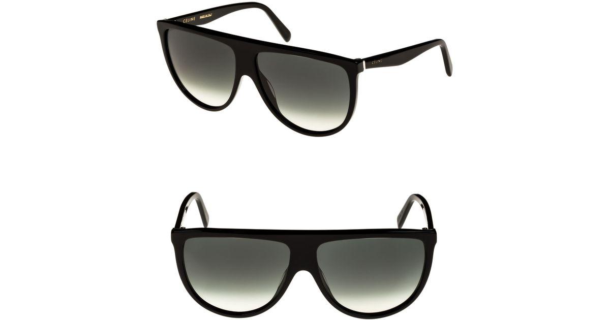e909ec1a3e3a5 Céline 62mm Pilot Sunglasses in Black - Lyst