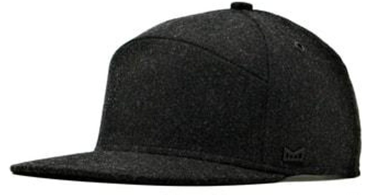 fe0347b11c8 ... purchase lyst melin the advocate wool baseball cap in black for men  17099 b41c8