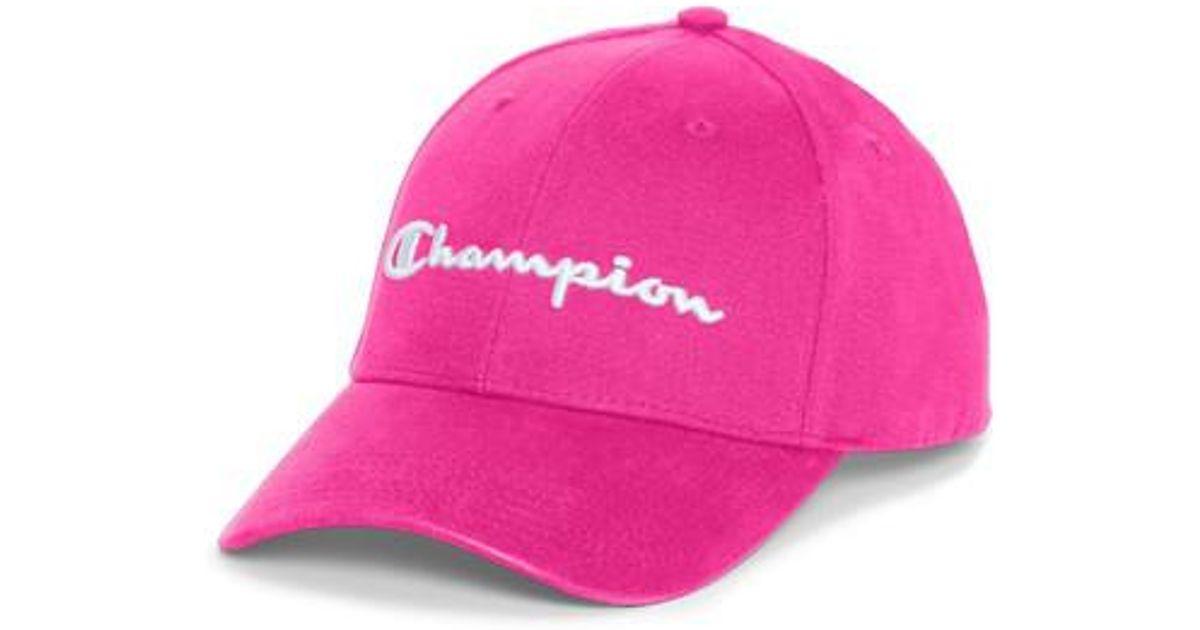 bfa779e48 Champion Classic Twill Hat Script in Pink for Men - Save 64% - Lyst