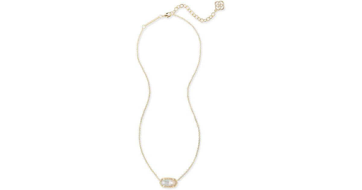 43e470c4e Lyst - Kendra Scott Elisa Birthstone Pendant Necklace in Metallic