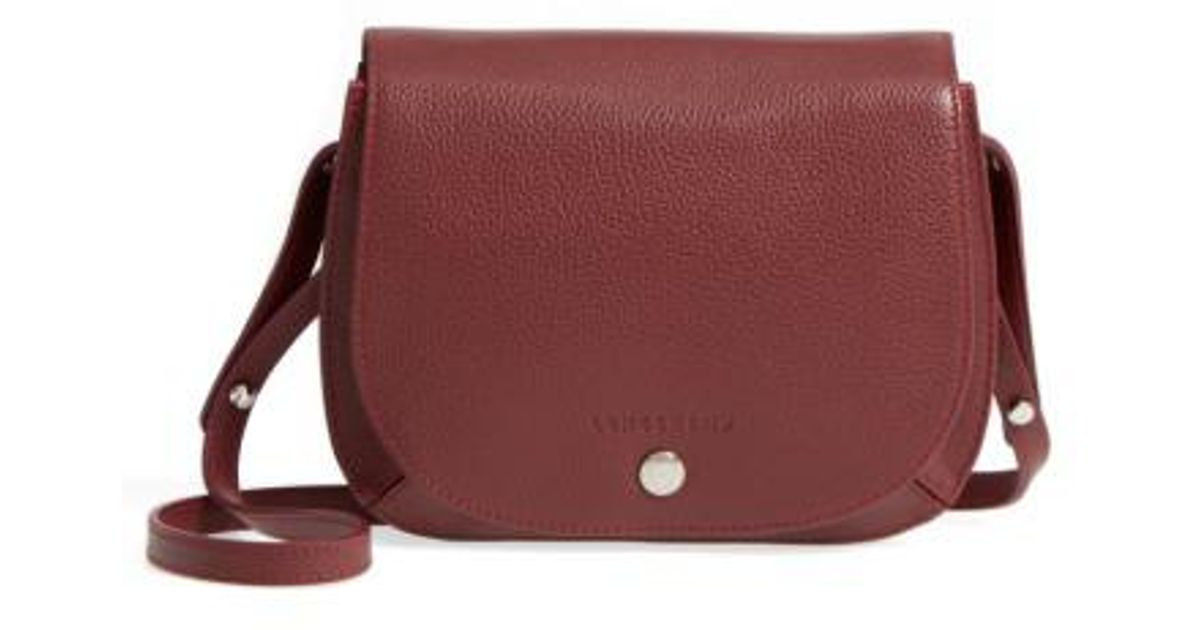 c799a5ac2d Longchamp Small Le Foulonne Leather Crossbody Bag in Brown - Lyst