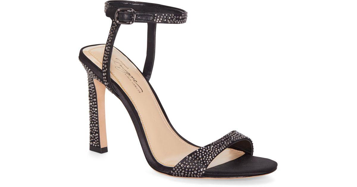 f4e6270df Lyst - Imagine Vince Camuto Reshi 2 Embellished Ankle Strap Sandal in Black