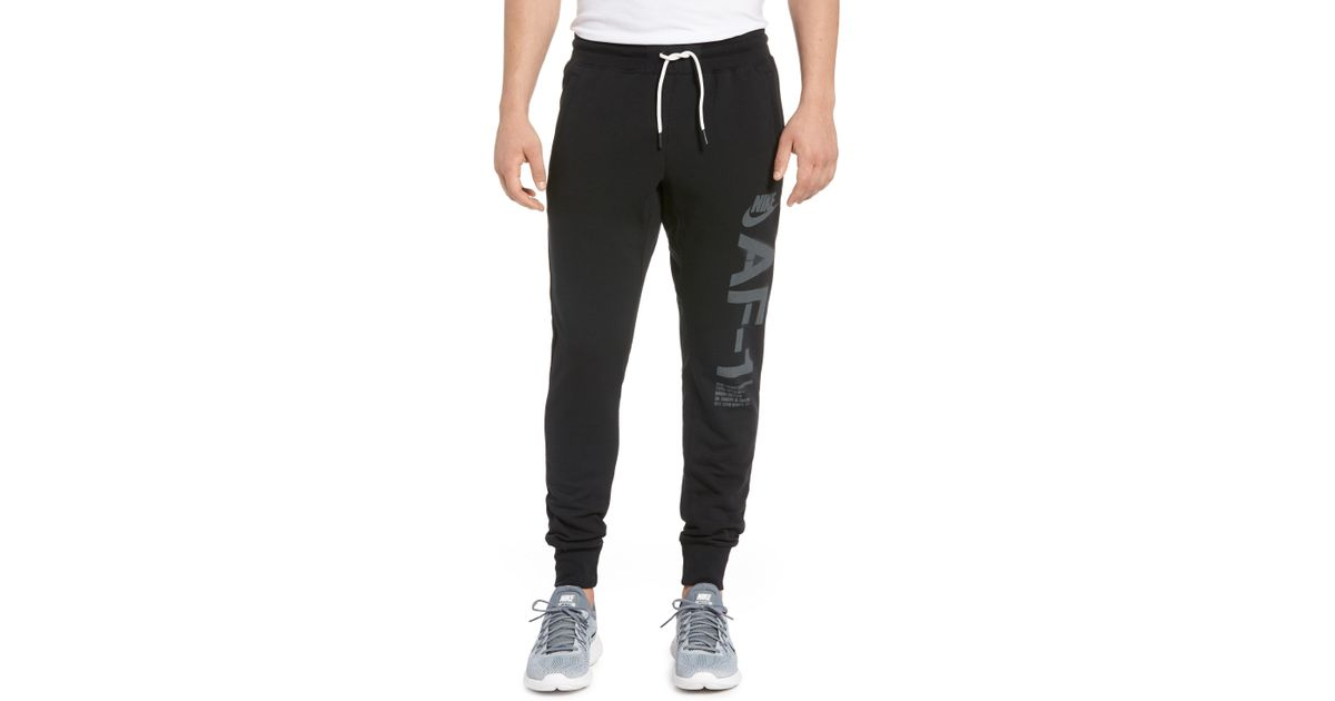 best cheap 606e3 4357f Lyst - Nike Sportswear Air Force 1 Jogger Pants in Black for