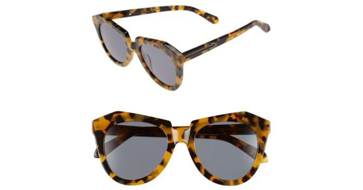 9db17d9fad4 Lyst - Karen Walker  number One  50mm Sunglasses - Crazy Tortoise in Brown