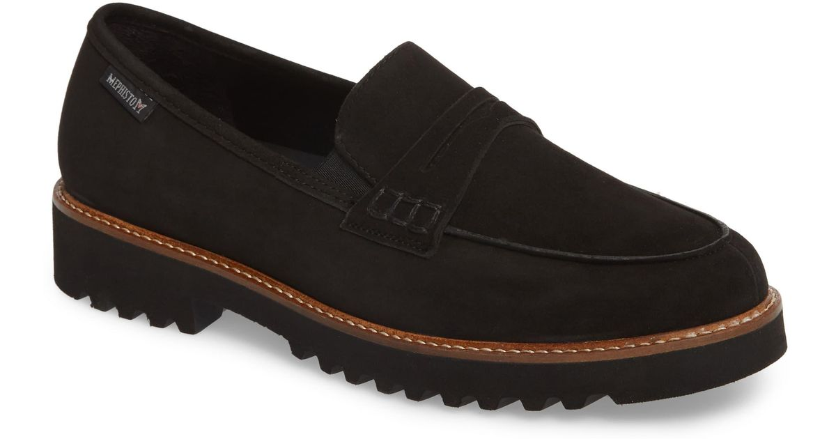 5dac11f70f Mephisto Sidney Penny Loafer in Black - Lyst