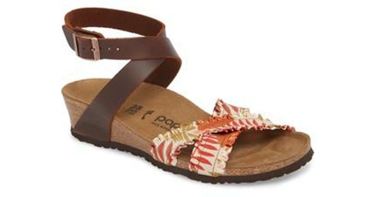 997fe299982 Lyst - Birkenstock Papillio By Lola Wedge Sandal in Brown