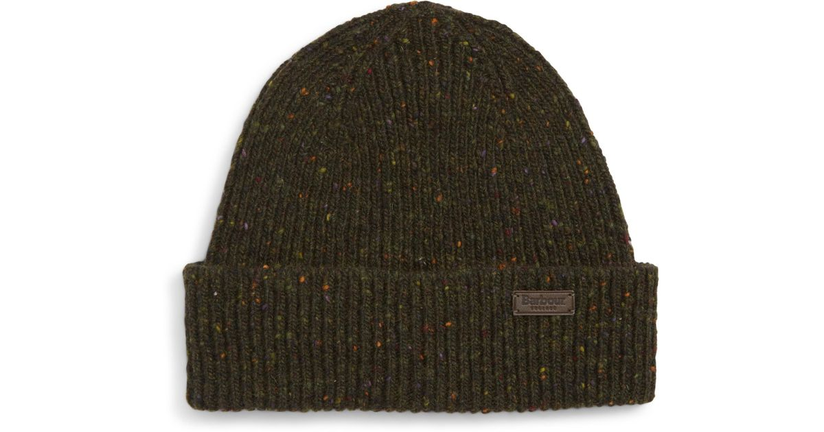 5eff5f85e1125 Barbour Lowerfell Donegal Beanie Hat in Green for Men - Lyst