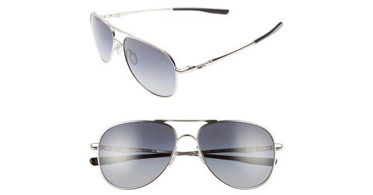 0a3b230f1df Lyst - Oakley Elmont 58mm Polarized Aviator Sunglasses - Chrome  Grey P in  Gray