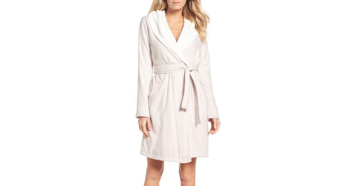 86d51a377a Lyst - UGG Ugg Anika Herringbone Fleece Robe in Natural