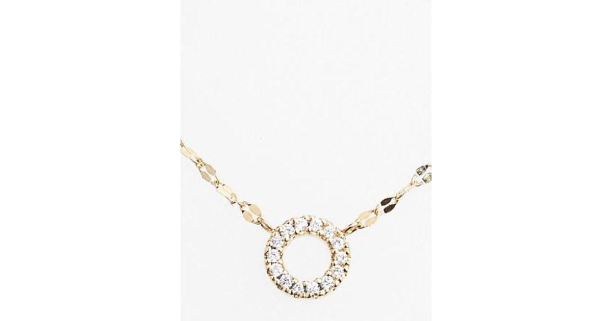 Lana Jewelry Mini Diamond Rectangle Pendant Necklace GVtwp