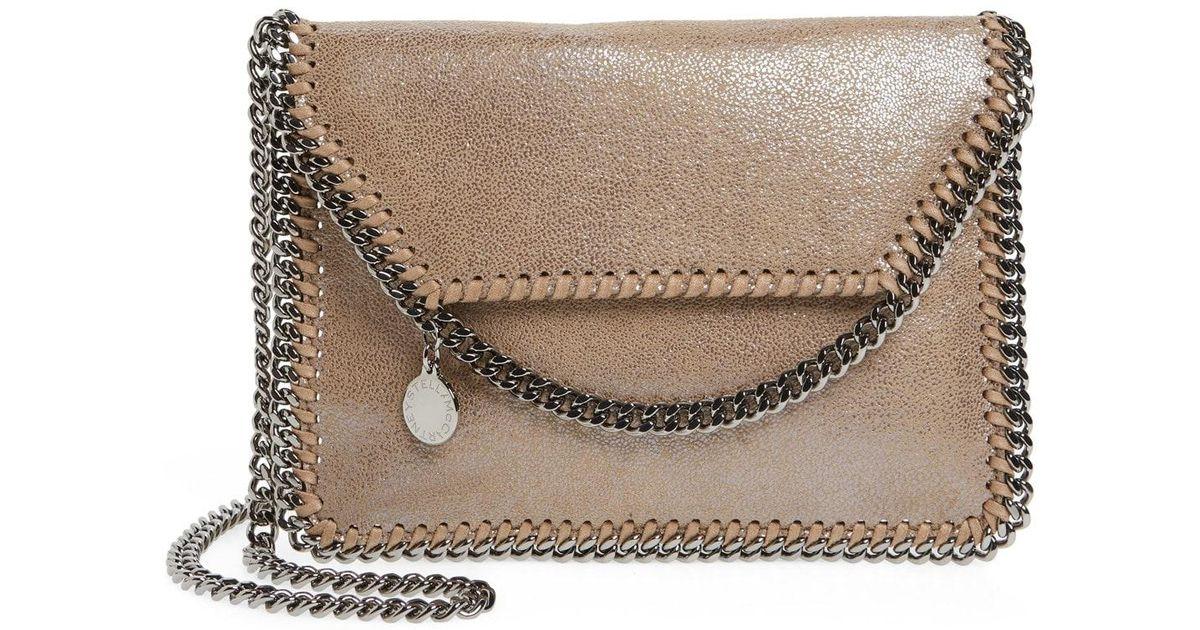 4b676dccc6 Lyst - Stella McCartney  mini Falabella  Faux Leather Crossbody Bag